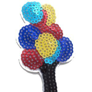 1pc Colorful Sequin Balloons Iron On Patch